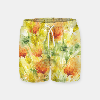 Thumbnail image of Fiery Florals Watercolors Swim Shorts, Live Heroes