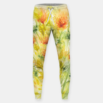 Thumbnail image of Fiery Florals Watercolors Sweatpants, Live Heroes