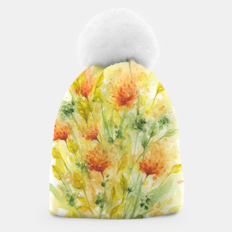 Thumbnail image of Fiery Florals Watercolors Beanie, Live Heroes