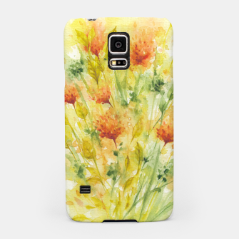 Thumbnail image of Fiery Florals Watercolors Samsung Case, Live Heroes