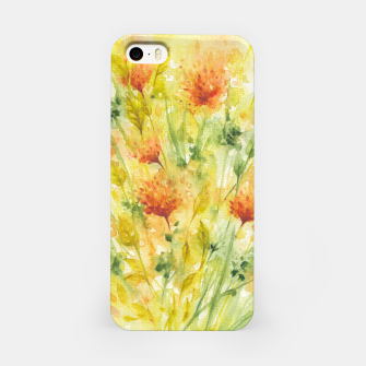 Thumbnail image of Fiery Florals Watercolors iPhone Case, Live Heroes