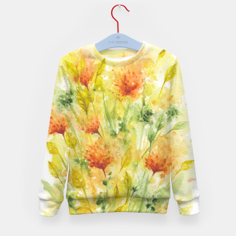 Thumbnail image of Fiery Florals Watercolors Kid's sweater, Live Heroes