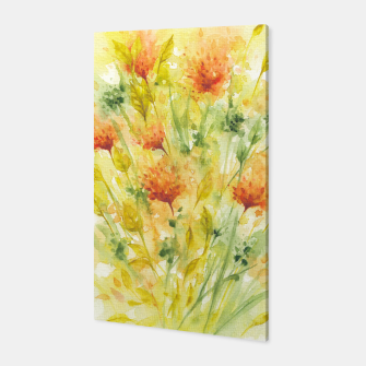 Thumbnail image of Fiery Florals Watercolors Canvas, Live Heroes