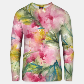 Thumbnail image of Dreamy Pink Floral Unisex sweater, Live Heroes