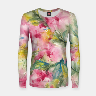 Thumbnail image of Dreamy Pink Floral Women sweater, Live Heroes