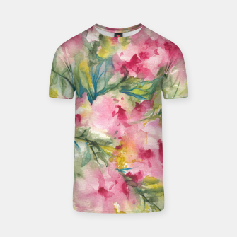 Thumbnail image of Dreamy Pink Floral T-shirt, Live Heroes