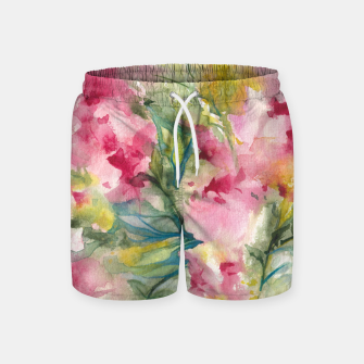 Thumbnail image of Dreamy Pink Floral Swim Shorts, Live Heroes