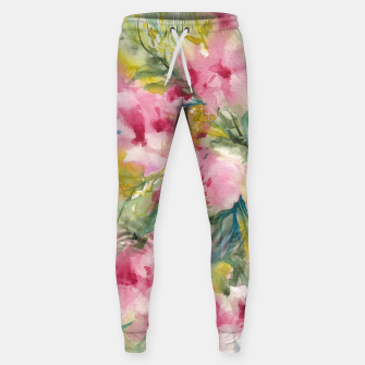 Thumbnail image of Dreamy Pink Floral Sweatpants, Live Heroes