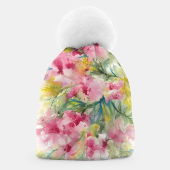 Thumbnail image of Dreamy Pink Floral Beanie, Live Heroes