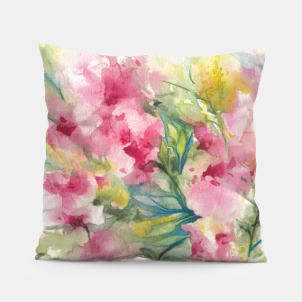Thumbnail image of Dreamy Pink Floral Pillow, Live Heroes