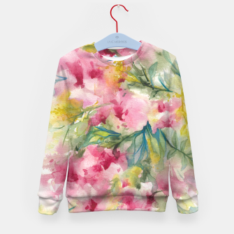 Thumbnail image of Dreamy Pink Floral Kid's sweater, Live Heroes