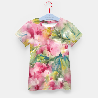 Thumbnail image of Dreamy Pink Floral Kid's t-shirt, Live Heroes