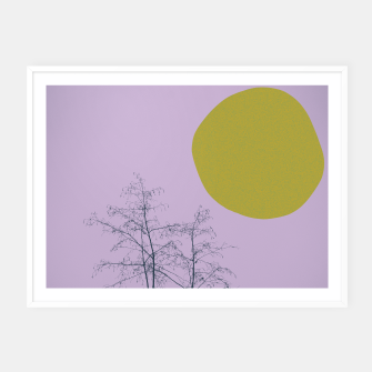 Thumbnail image of Trees and shape Framed poster, Live Heroes