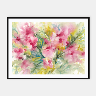 Thumbnail image of Dreamy Pink Floral Framed poster, Live Heroes