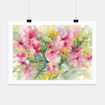 Thumbnail image of Dreamy Pink Floral Poster, Live Heroes