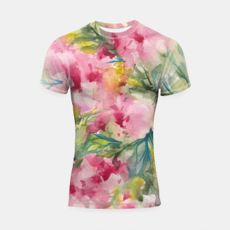 Thumbnail image of Dreamy Pink Floral Shortsleeve rashguard, Live Heroes
