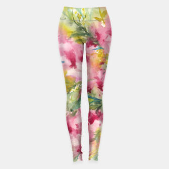 Thumbnail image of Dreamy Pink Floral Leggings, Live Heroes