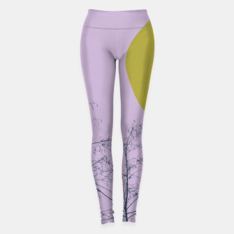 Trees and shape Leggings Bild der Miniatur
