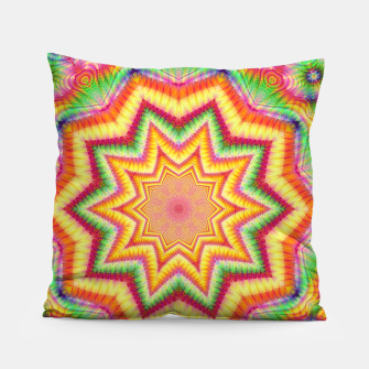 Thumbnail image of Rainbow Star Fractal Pillow, Live Heroes