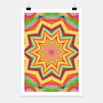 Thumbnail image of Rainbow Star Fractal Poster, Live Heroes