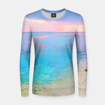 Thumbnail image of Dreamy sunset beach Women sweater, Live Heroes