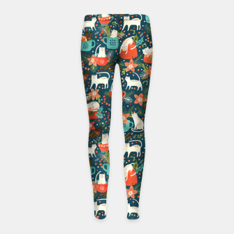 Thumbnail image of Spicy Kittens Girl's leggings, Live Heroes