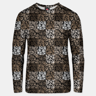 Thumbnail image of pattern of leaves and flowers (dark)  Unisex sweater, Live Heroes