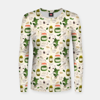 Miniatur Pesto. Seamless Recipe Women sweater, Live Heroes