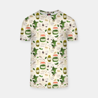 Miniatur Pesto. Seamless Recipe T-shirt, Live Heroes