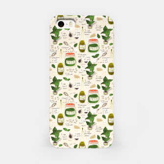 Miniatur Pesto. Seamless Recipe iPhone Case, Live Heroes