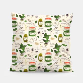 Miniatur Pesto. Seamless Recipe Pillow, Live Heroes