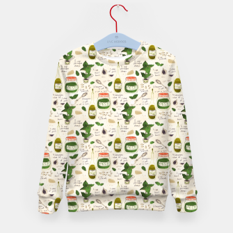 Miniatur Pesto. Seamless Recipe Kid's sweater, Live Heroes