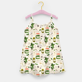 Miniatur Pesto. Seamless Recipe Girl's dress, Live Heroes