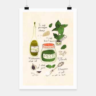 Thumbnail image of Pesto. Illustrated Recipe Poster, Live Heroes