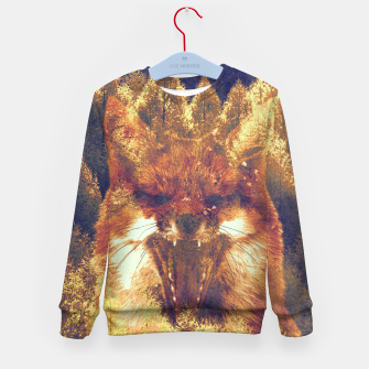 Thumbnail image of Fox forest  Kid's sweater, Live Heroes