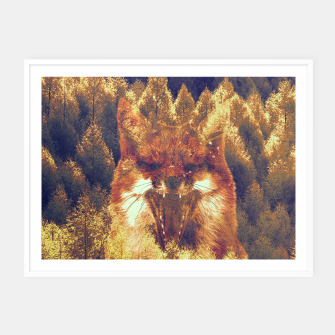 Thumbnail image of Fox forest  Framed poster, Live Heroes
