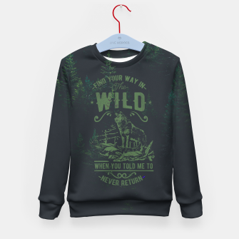 Thumbnail image of Find Your Way in the Wild Bluza dziecięca, Live Heroes