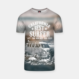 Miniatur Let the Sea Set You Free T-shirt, Live Heroes