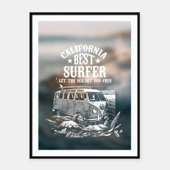 Thumbnail image of Let the Sea Set You Free Framed poster, Live Heroes
