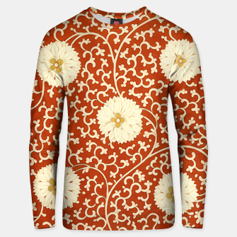Thumbnail image of cream dahlia pattern - elegant Chinese motifs  Unisex sweater, Live Heroes