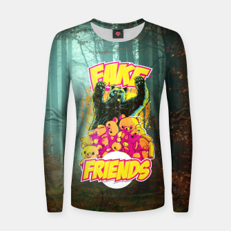 Thumbnail image of Fake Friends Women sweater, Live Heroes