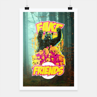 Thumbnail image of Fake Friends Poster, Live Heroes