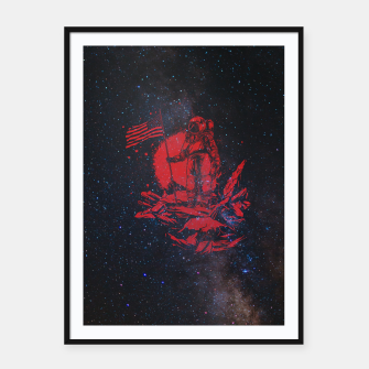 Thumbnail image of The American Astronaut Framed poster, Live Heroes
