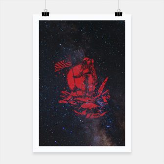 Thumbnail image of The American Astronaut Poster, Live Heroes