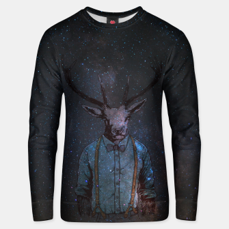 Miniatur Space Deer Unisex sweater, Live Heroes