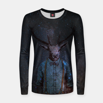 Thumbnail image of Space Deer Women sweater, Live Heroes