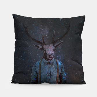 Miniatur Space Deer Pillow, Live Heroes