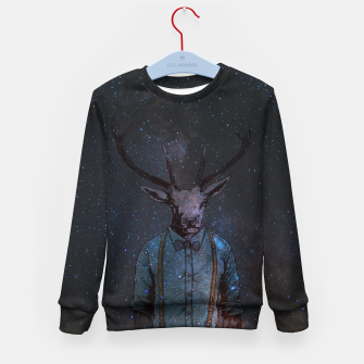 Thumbnail image of Space Deer Kid's sweater, Live Heroes