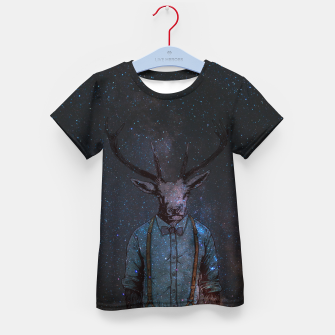 Space Deer Kid's t-shirt miniature