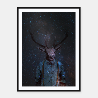 Thumbnail image of Space Deer Framed poster, Live Heroes